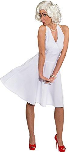 Weißes Kleid wie Marilyn Monroe Kostüm Karneval Gr. (Weißes Marilyn Kleid Monroe)