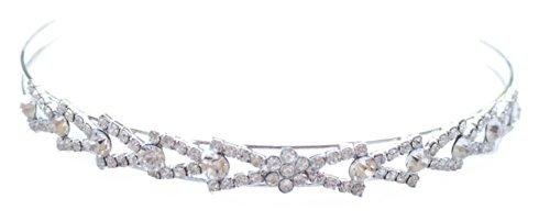 Placcata al rodio, stile Vintage, in cristallo, perle, & Aliceband tiara in confezione regalo - Stile Cristallo Perla