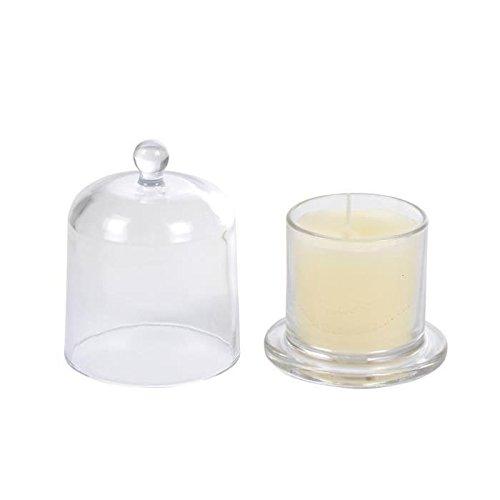Bougie verrine cloche – 8,4 x h11 cm – Vanille