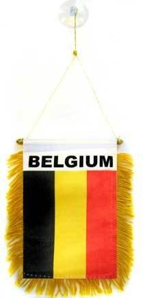 AZ FLAG Fanion Belgique 15x10cm - Mini Drapeau Belge 10 x 15 cm spécial Voiture - Bannière