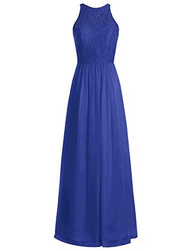 Bbonlinedress Robe de cérémonie Robe de demoiselle d'honneur longueur ras du sol Bleu Saphir