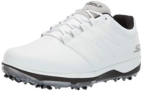 Skechers Golf 2019 Go Golf PRO V.4 - Scarpe da Golf Impermeabili con Borchie, Uomo, 54535, White/Black, 8.5 M US