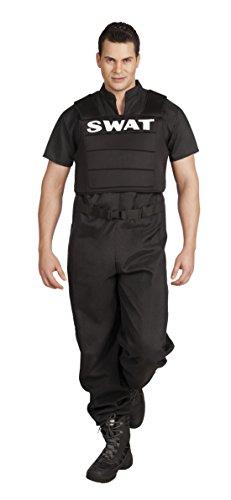 Halloweenia - Herren Hochwertiges Kostüm SWAT, Schwarz, Größe XL