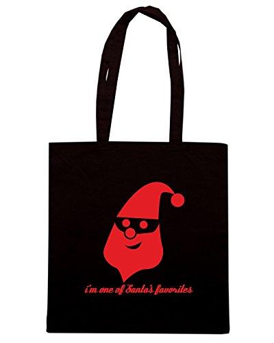 T-Shirtshock - Borsa Shopping T0391 i m one of santa s favorites festivita Nero