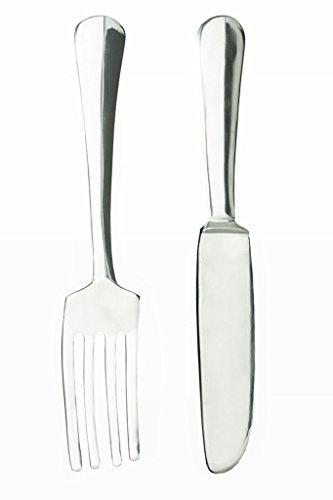 Levandeo Dekobesteck Aus Aluminium Silber   Deko Gabel Und Messer   Wanddekoration  Dekoration Küchen