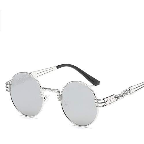 ROirEMJ Sonnenbrille, Frauen Uv-Schutz 400 Brillen, Mode Runden Rahmen Runde Linse Sonnenbrille, Weibliche Vintage Punk Fahren Auge Glas