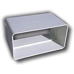 Giunto 120x60 mm per Aerazione Canalizzata Cappa Cucina adatto per Tubi di Areazione di Tipo Rettangolare in Pvc Colore Bianco