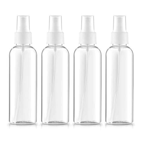 3,5 Unzen Spray (4PCS / SET-Transparente Plastik Sprühflaschen Mist Wiederverwendbare Feine Nebel Spray-Flaschen Pipette Atomiser Flüssigkeitsbehälter Für ätherische Öle, Reise, Parfüm (100 Ml, 3,5 Unzen))