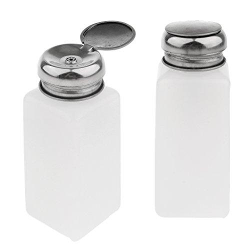 Baoblaze 2 Pcs Bouteille Dissolvant Vide 100/200/250ml pour vernis à ongles distributeurs de pompe à vide Bouteille en plastique Cosmétique Bouteille Vide Conteneur - blanc, 250ml
