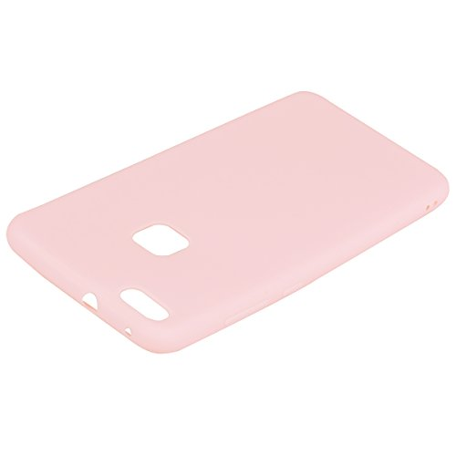 Huawei P10 Lite Hülle, E-Lush TPU Silikon Handy Case Hülle für Huawei P10 Lite Schön Einfarbig Jelly Weich Dünn Muster Weich Silikon Handyhülle Schale Schutzhülle Ultradünnen Etui Anti-stoß Kratzfeste rosa
