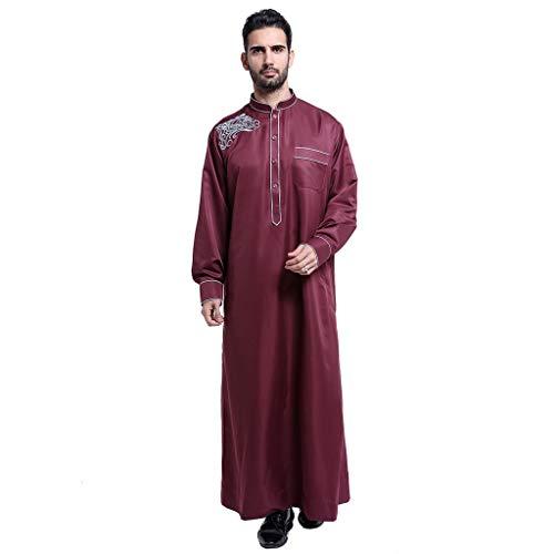 serliy Arabische Kostüme Recpectable Rabbi Robe stilvoll lässig Reißverschluss Oversize Langarm lose knöchellangen Stickerei Top Bluse pur