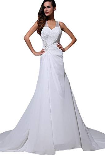Angel Formal Dress Sicke White dünnes Seidengewebe Halter Mermaid Bridal Brautkleid 40,Beige
