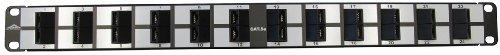 Multimedia Patch Panel (Allen Tel Produkte at55b-pnl-agl2424Ports, 568A/568b Verkabelung, 1Rack Unit, 110Termination Kategorie 5e Patch Panel)