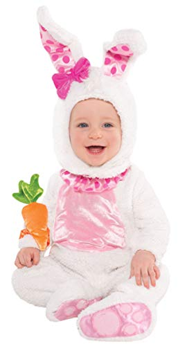 amscan 997536 Kinderkostüm Hase, weiß/rosa, 6-12 Monate