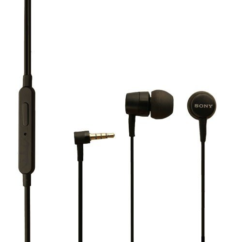Original Sony Headset MH-750 in Schwarz für Sony Xperia Z3 Kopfhörer Ohrhörer mit Anrufannahmeknopf An-Aus In Ear Ohrstöpsel Super Klangqualität
