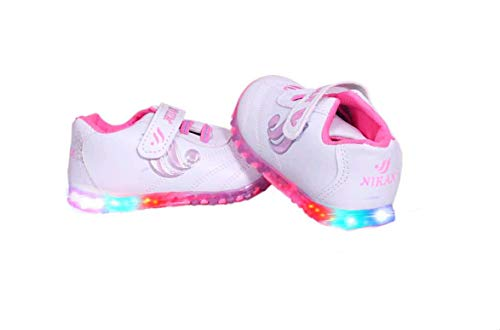 Fashion shoes Kid's Baby Pink Light Synthetic Leather Shoes (2-2.5 Yrs)