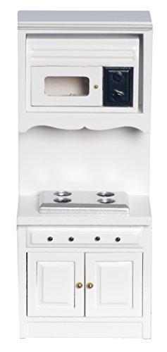 Town Square Miniatures Melody Jane Puppenhaus Weiß Raven Ofen Mikrowelle Einheit Miniatur Einbau Küchenmöbel