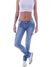 Damen Jeans Hose Stretch Röhre Skinny Glitzer schwarz silber 34 XS 36 S 40 L 42
