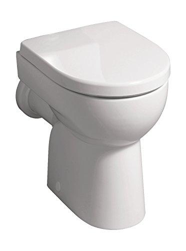 Geberit Renova Nummer 1 Stand-WC , Flachspüler , Abgang waagerecht , weiß