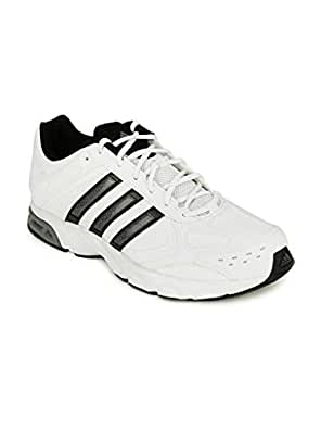 adidas Men's Impulse Syn M White, Iron Metalllic and Black Running Shoes - 11 UK
