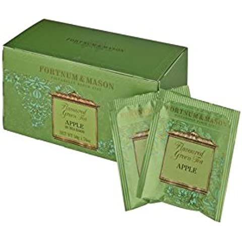 FORTNUM & MASON - Green Tea and Apple (Tè verde Mela) - 25 Bustine x 3 (totale: 75 Bustine)