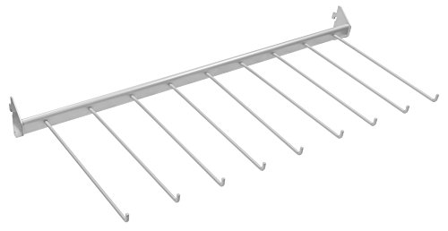 Connex Regalelement Hosenhalter, 80 x 30 cm, Silber, Metall, 29.5 x 78.5 x 4.5 cm