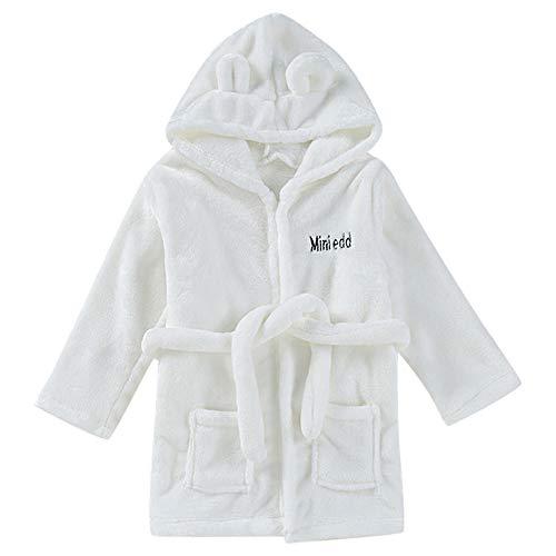 Oliviavan Baby Bademantel Flanell Miniedd Bademantel Kinderbekleidung Home Service niedlichen Kinder Nachthemd Baby Bademantel(0M~2T)