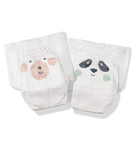 Kit & Kin Eco Nappies Size 1 Hypoallergenic and Sustainable (40 x 4 packs, 160 nappies)