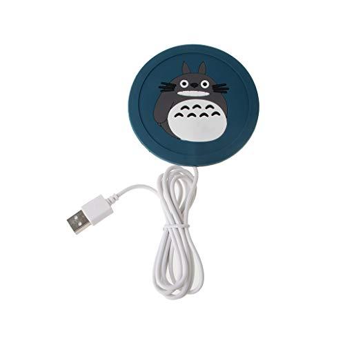 qingqingR 1Pc Kreative Cartoon USB Becher Pad Silikon Heizung Winter Konstante Temperatur Kaffee Heißes Getränk Heizung Coaster Werbung Geschenke Totoro