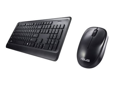 Asus - W2000 keyboard mouse bk sp wireless optical