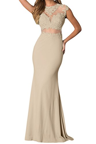 Victory bridal glamour avec traegern longueur genoux abendkleider court promkleider ballkleider brautjungfernkleider chiffon Champagne