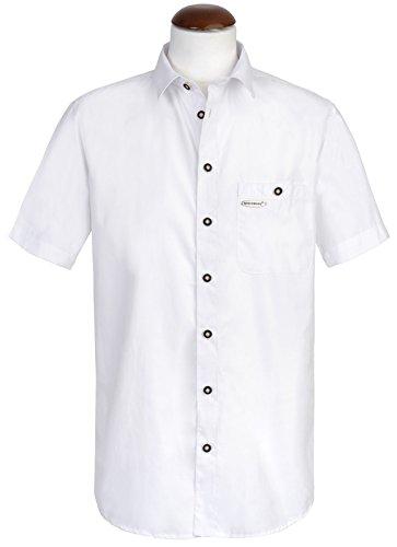 Spieth & Wensky - Slim Line - Herren Trachten Hemd mit Kent Kragen in weiß uni (261381-0834) Weiß (2014 )