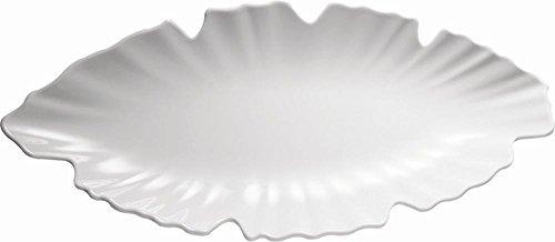 APS Plateau Feuille 52 x 25 cm, H: 4 cm mélamine, Blanc