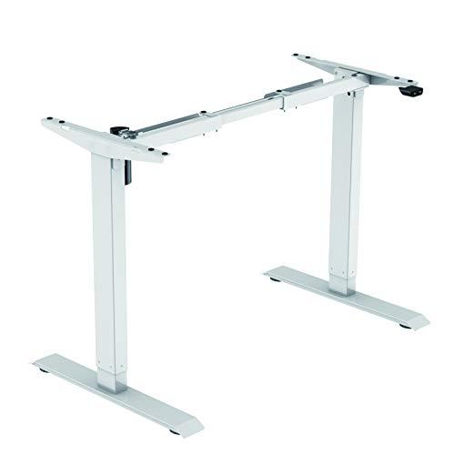 Jet-line höhenverstellbarer Schreibtisch Basic Weiß Elektrisch Bürotisch Ergonomisch Motor Stufenlos Höhenverstellbar Tischgestell Büro Tisch