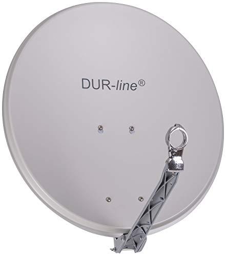 DUR-line Select 60/65cm Hellgrau Satelliten-Schüssel - Test + Sehr gut + Aluminium Sat-Spiegel