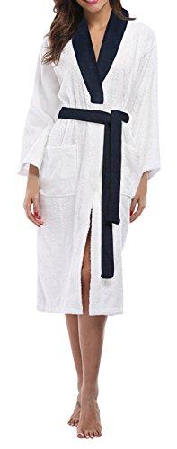 SKYLINEWEARS Women's 100% Terry Cotton Bathrobe Toweling Dressing Gown Robe