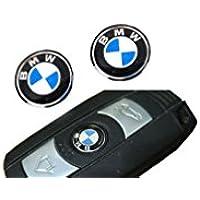 2 Stück 11mm Aufkleber Lenkrad Emblem Logo Schlüssel Fernbedienung Set Satz