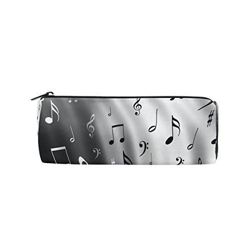 miloha Musik Note Bleistift Stift Tasche Hülle, Schwarz und Weiß Student Office College Tasche für die Mitte Schule High School Große Halterung Box Organizer