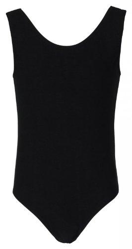 tanzmuster maillot de ballet 'Lissy sin mangas para niñas en negro, 104/110 (5-6 años)