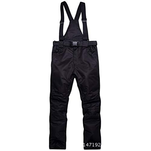 Skihose - Wasserabweisende Hose, verstellbare Taille, abnehmbare Zahnspange Ski-Outfit - ideale Skibekleidung für Damen/Herren (Schwarz, XXL) - Ski-outfit