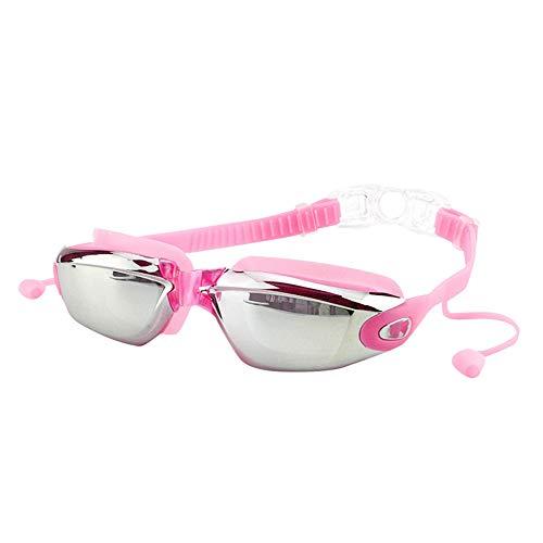 PinkLu GläSer Damen Schwimmbrille FüR Erwachsene Aus Silikon Mit OhrstöPseln Wasserdichte Und Beschlagfreie Schwimmbrille Mode Sommer Neuer HeißEr Verkauf 4-Farbige Schwimmbrille