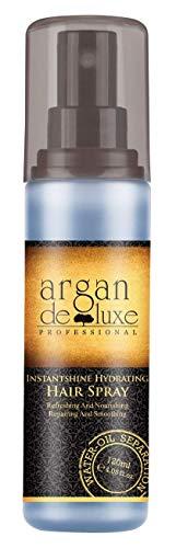 Arganöl 2-Phasen-Feuchtigkeitsspray in Friseur-Qualität ✔ Beste Pflege-Formel ✔ Erfrischend, Entwirrend, Hochwirksam ✔ Argan DeLuxe, 120ml