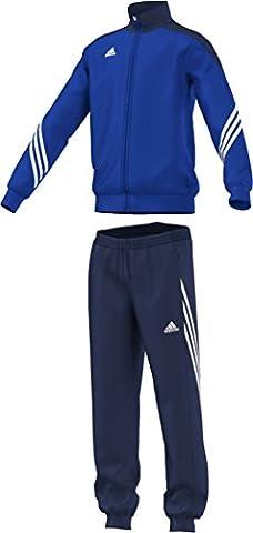 adidas Sereno 14 Survêtement Enfant Haut: Cobalt/New Navy/Blanc; Bas: Bleu Foncé/Blanc FR : 164 cm (Taille Fabricant : 164 cm)