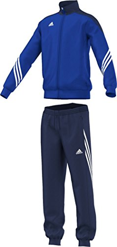 adidas Unisex - Kinder Trainingsanzug Sereno14, Top:cobalt/new navy/white Bottom:dark blue/white, 152, F49716 (Blauen Anzug-jacke Navy)
