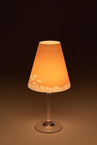 Dana Kerze (Candle Light 'Dana' - 1er / 2er / 3er / 6er-Set - Lampenschirm für Weingläser/Deko-Lampenschirm/Lampe/Teelicht/Lampshade/Tischdeko, Größe:3er-Set)