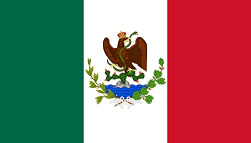 magFlags Bandiera Large Imperio Mexicano 1863-1864 | Utilizada por los imperialistas y la Regencia del Imperio hasta junio de 1864, cuando fue sustituido por el modelo diseñado por el