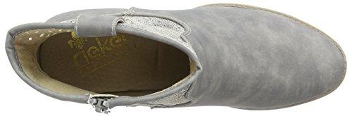 avec antique 40 Rieker Bottines Grau intérieure doublure Gris cement Y1965 femme zxTvqEw