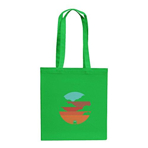TEXLAB - Bulli Life - Stoffbeutel, grün (Road Trip Kostüm)
