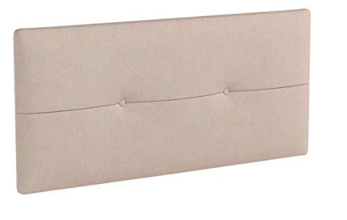 SUENOSZZZ - Cabecero de Madera Jazmin, tapizado Acolchado, en Tela Rio5 Color Beige Cabeceros Madera para Dormitorio | Cama Matrimonio | Cama Juvenil | Camas de 105 cm, 90 cm, 80 cm