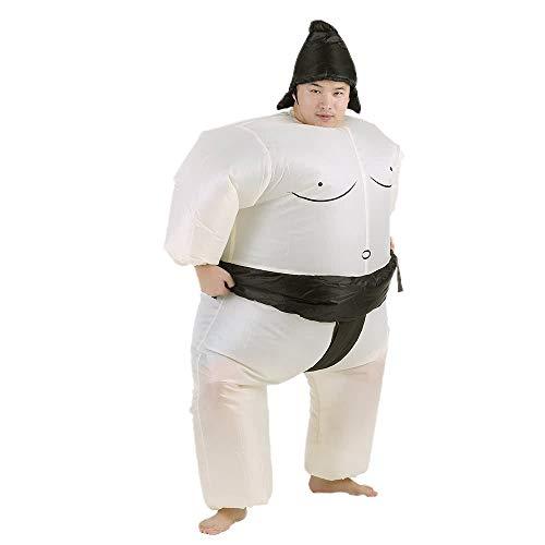 YuanCheng Kinderspielzeug Aufblasbarer Sumo-Kostümanzug mit batteriebetriebenem Fan-Kostüm-Halloween-Partei-Cosplay-Ausrüstungs-Fett aufblasbaren Wrestler-Kostüm